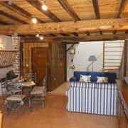 salon du gite Pays Cathare Gites de France dans l'Aude aux Brunels