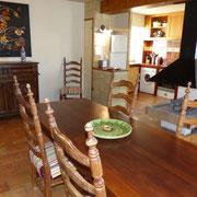 salle à manger gite Pays Cathare Gites de France dans l'Aude à Cavanac