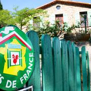 entrée gite dans l'Aude label pays cathare gites de france à Quintillan