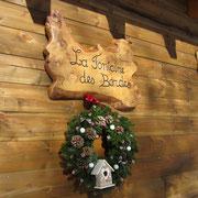 décoration noel gite pays cathare gites de france dans l'aude à Roquefeuil