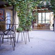 patio gite Pays cathare label Gites de France à Pouzols Minervois dans l'Aude