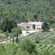 vue du gite Pays Cathare Gites de France dans l'Aude à Mailhac en Minervois