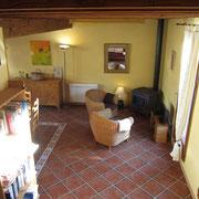 salon gite pays cathare dans l'Aude à Rouffiac des corbières , labelisé Gites de france