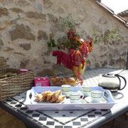 terrasse gite Pays Cathare Gites de France dans l'Aude à Ferrals les Corbieres