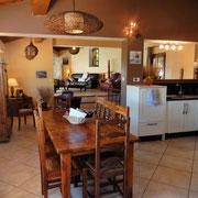 salle à manger Gite Pays cathare gites de france dans l'Aude à Quintillan