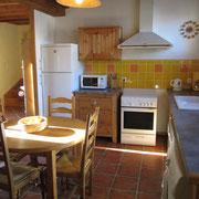 cuisine gite pays cathare dans l'Aude à Rouffiac des corbières , labelisé Gites de france