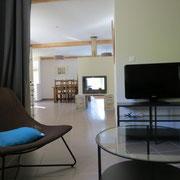 salon séjour gite Pays Cathare Gites de France dans l'Aude à Castan en Montagne noire