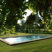 piscine gite pays cathare Clevacances à Plaigne Château la Commanderie dans l'Aude