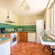 cuisine domaine gite les Iris au Domaine viticole Saint Jacques d'Albas à Laure Minervois dans l'Aude