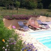 piscine gite pays cathare à Saint Denis dans l'Aude labélisé Gites de France