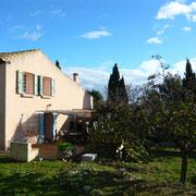 jardin gite Pays Cathare Gites de France dans l'Aude à Fleury d'Aude dans l'Aude