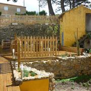 jardin gite pays cathare et gites de france dans l'Aude à Ribaute en Corbières