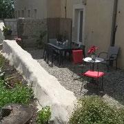 gîte  pays cathare En Payan à Saint-Martin-Lalande 3 épis gites de france la terrasse