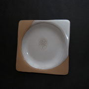 square plate with clover impression (15 x 15 cm) - ¥2376