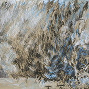 Christel Bachmann . Regen, Regen, Regen . 2013 . 36x48cm . Ölpastell auf Papier . 350,00 €
