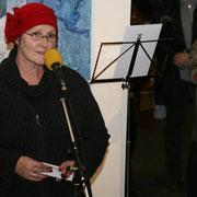 Dagmar Pohle, unsere Schirmherrin, spricht das Grußwort ... :o) Tolle Rede! Vielen Dank dafür! Rechts im Bild: Carolina Winkler, Leiterin des Ausstellungszentrums