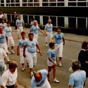 Teilnahme am Jubiläumsumzug der Freiwilligen Feuerwehr 1985