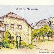L'aquarelle du Gîte du granier à Apremont