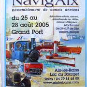 Navig'Aix, sur le lac du Bourget,fête annuelle des bateaux en bois,édition 2005