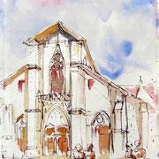 516- La cathédrale, peinte en trompe-l'oeil par 2 Italiens
