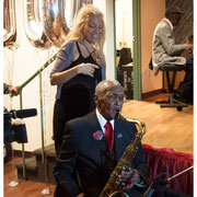 Fred Staton and Wendy Oxenhorn, Fred's 100th Birthday Celebration, Local 802, NYC 2015