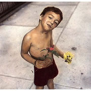 Eduardo, Hand-painted photo, Jersey City, NJ, circa mid 80's