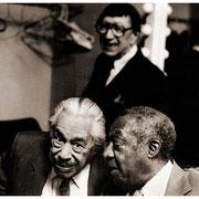 """Secret of Our Journey"", Cab Calloway (1907-1994), Milt Hinton (1910-2000), Doc Cheatham (1905-1997), New School, NYC 1990"