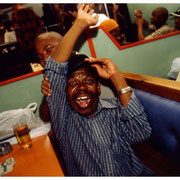 Happy Patron, The Rainbow Club, A Legendary Shabeen in the Township of Pinetown, South Africa 2003