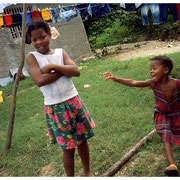 Playing in the Yard, Jamaica, W.I. 2003