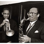 Benny Golson and Wynton Marsalis, Art Blakey Memorial, Abysinnian Baptist Church, NYC 1990