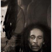 """Backstage Bob"", Bob Marley (1945-1981), Fox Theater, Atlanta 1979"