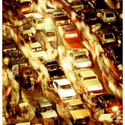 Traffic After The Fireworks, Lower East Side, New York City 7-4-86