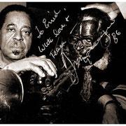 """Double Diz"", Dizzy Gillespie (1917-1993), Moonshadow Saloon, NYC 1984"
