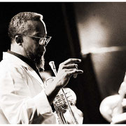 """""""Lester Listens"""", Lester Bowie (1941-1999), Texaco Jazz Fest., Knitting Factory, NYC 1998"""