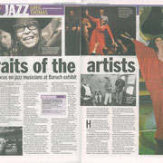 Baruch College Jazz Exhibit Review, Daily News, Nov. 12th, 2012