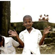 Schoolyard Boys, Barbados Island Safari Tour 2004