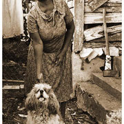 Dog, Woman and Ax, Atlanta, GA 1983
