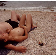 Nude Beach, Couple and a baby, Lake Bohinj, Slovenia 2002