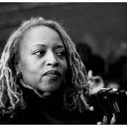 Cassandra Wilson, Outside Apollo Theater, NYC 2002