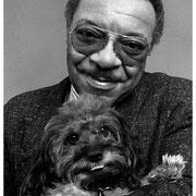 Grady Tate with Sammy (Enid's beloved dog), Enid's Apartment, NYC 1991