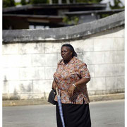 Woman Walking, Barbados, W.I. 2004