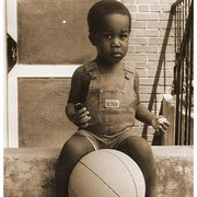 Duane's Son and Bball, Atlanta, GA circa early 80's