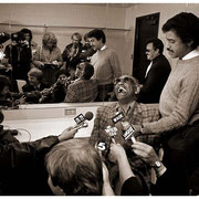 """Atlanta's Impressed"", Ray Charles, Press Conference, Atlanta Merchandise Mart 1983"