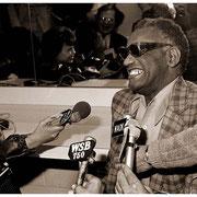 Ray Charles Interviewed, Press Conference, Atlanta Merchandise Mart 1983