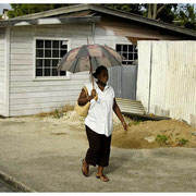 Lady with Umbrella, Barbados, W.I. 2004
