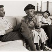 """Bluesiana Interview"", Art Blakey (1919-1990) & David 'Fathead' Newman (1933-2009),  Dr. John, Art's Apt., Greenwich Village, NYC 1989"