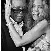 Quincy Jones and Wendy Oxenhorn, Peninsula Hotel Rooftop, NYC