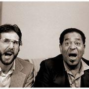 """Kool Kats"", Chris Kuhl and Dizzy Gillespie (1917-1993), Moonshadow Saloon, Atlanta 1984"