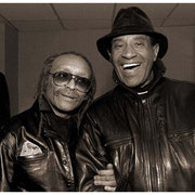 """10 Year Reunion Backstage Back Together"", Cecil Taylor and Max Roach (1924-2007), Town Hall, NYC 1989"