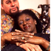 Steve Turre and Akua Dixon and Jazz the Dog, Home, Montclair, NJ 2002